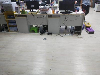 ภาพงานเดินสาย LAN ที่ บริษัท เอเซีย รีไซเคิล เทคโนโลยี จำกัด ภายในห้องสำนักงาน