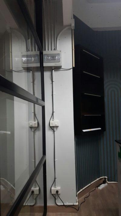 เดินสาย LAN 15 จุด ยืดกับผนัง พร้อมใส่เบอร์ ที่ บริษัท อีอ๊อกซ์ (กรู๊ท) จำกัด