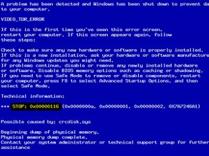 จอสีฟ้า (Blue Screen) เกิดขึ้นแล้วดับไป พร้อมคำแนะนำในการแก้ปัญหาเบื้องต้น
